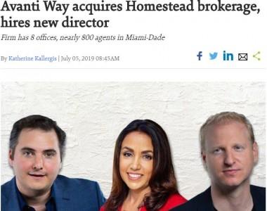 Avanti Way acquires Homestead brokerage, hires new director